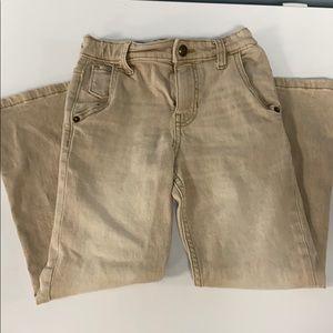 Boys Tan Jeans size 7